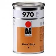 Сольвентна 2-компонентна фарба, спеціально для друку по ящиках для напоїв з попередньо оброблених PE або PP Mara Poxy Y